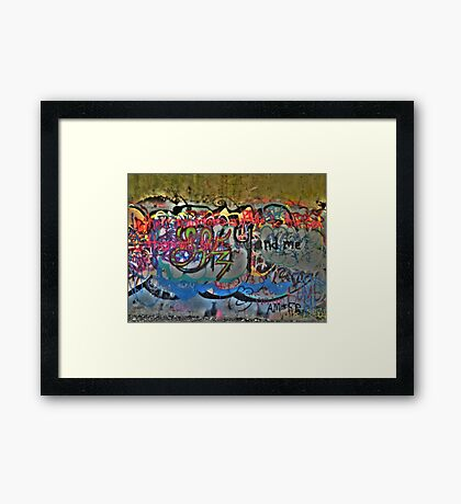 Graffiti Truth Framed Print