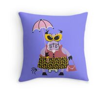 Cool Cow In The Sun!!! Throw Pillow
