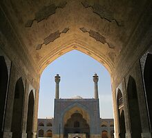 Isfahan Friday Mosque Gothic Arch by Jane McDougall
