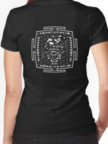 MAYAN_MAN_2014 Women's Fitted V-Neck T-Shirt