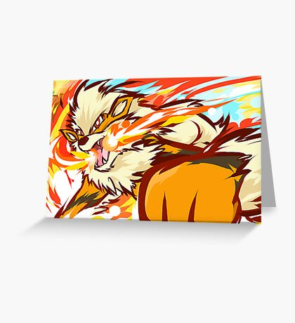 Arcanine | Fire Fang Greeting Card
