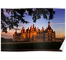 Chambord Castle, Loire Valley, at Sunset Poster
