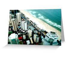 Surfers Paradise - Tilt Shift Greeting Card