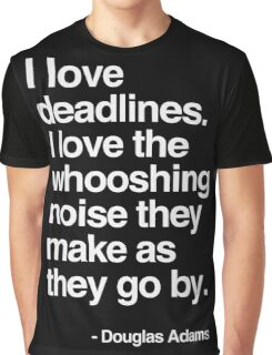 Douglas Adams Deadline Lover Graphic T-Shirt