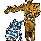 R2-Dalek2 & Cyber3PO by Skree