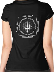 SHIVA_TRIDENT_MANTRA_2014 Women's Fitted Scoop T-Shirt