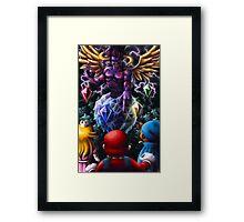 A Challenge from the Dark Knight of Vanda Framed Print