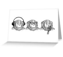 Hear Evil, See Evil, Speak Evil Greeting Card