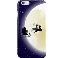 Flying Santa and Full Moon 2 iPhone Case/Skin
