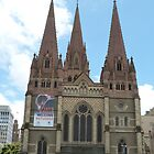 St. Paul's Cathedral! City Center, Melbourne, Victoria, Australia. by Rita Blom