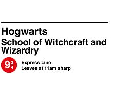 Express to Hogwarts - Black Text Version by oneskillwonder