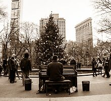 The Maestro Of Madison Square Park by Dennis  of Legend Photography
