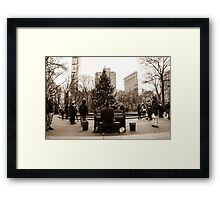 The Maestro Of Madison Square Park Framed Print