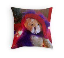 Christmas Teddy Throw Pillow