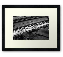 Tickle the Ivory Framed Print