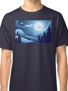 Deers in Winter Forest 2 Classic T-Shirt