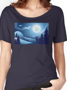 Deers in Winter Forest 2 Women's Relaxed Fit T-Shirt