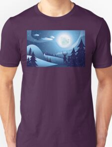 Deers in Winter Forest 2 Unisex T-Shirt