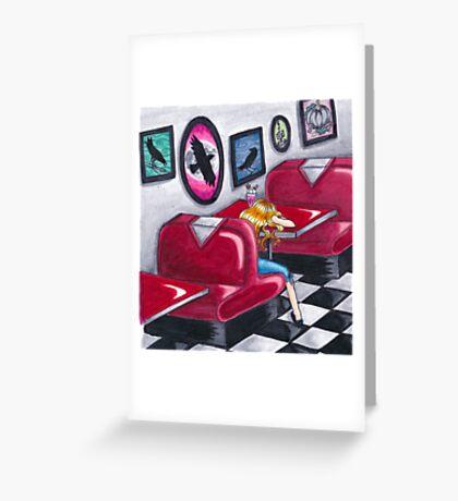 Bird's ep Album Art Frot Greeting Card
