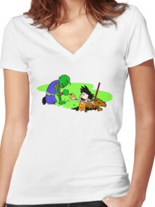 There're DragonBalls Everywhere Women's Fitted V-Neck T-Shirt