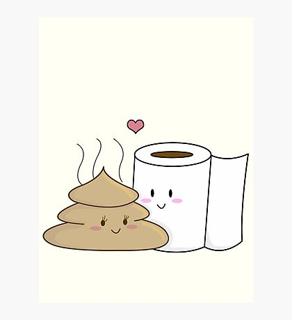 Poop & Toilet Paper (Love at First Wipe!) Photographic Print