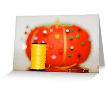 On Pins and Needles Greeting Card