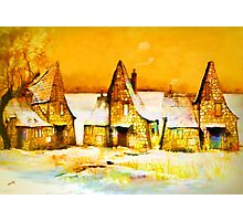 Gingerbread cottages'... Photographic Print