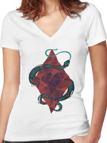 Mystic Crystal Women's Fitted V-Neck T-Shirt