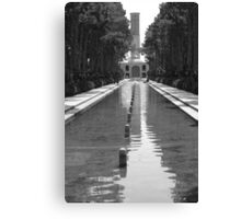 Persian Reflecting pool with Wind Tower Canvas Print