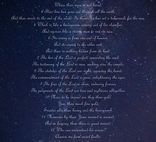 Psalm 19 on Milky Way by Dave van der Wal