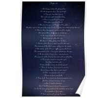 Psalm 19 on Milky Way Poster