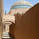 Adobe Street, Blue Dome, Yazd, Iran by Jane McDougall