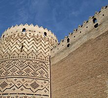 Tapered Cylinder in Brick, Shiraz, Iran by Jane McDougall