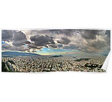 Heavy sky over the city... Poster