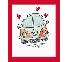 Camper Van with Love  Photographic Print