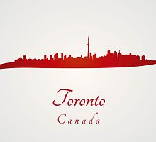 Toronto skyline in red by Pablo Romero
