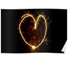 Sparkling heart Poster