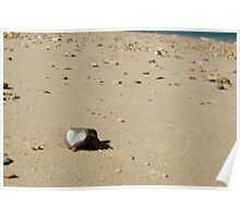 Love heart on the beach Poster