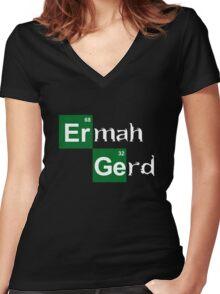 HeisenGerd Women's Fitted V-Neck T-Shirt