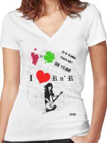 i heart Joan Jett Women's Fitted V-Neck T-Shirt