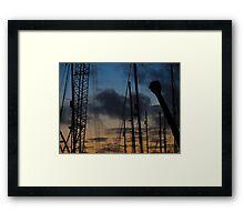 #crane Framed Print