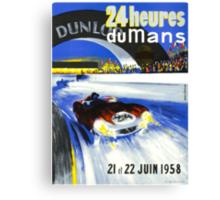 24 Hours of LeMans - 1958 Poster Art Canvas Print