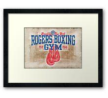 Rogers Boxing Gym Framed Print