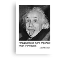 Imagination is more important than knowledge. Canvas Print