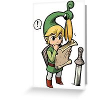 Link's sense of direction Greeting Card