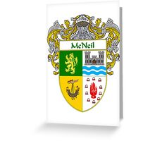 McNeil Coat of Arms/Family Crest Greeting Card