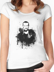 9th Doctor (Christopher Eccleston) Women's Fitted Scoop T-Shirt