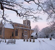 All Saints' in the snow by Christopher Cullen