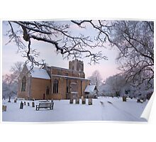 All Saints' in the snow Poster
