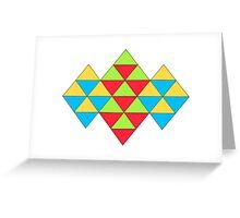 TRIANGLES ARTWORK Greeting Card